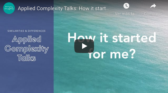 Applied Complexity Talks: How it started for me?